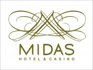 8 midas hotel logo in white background